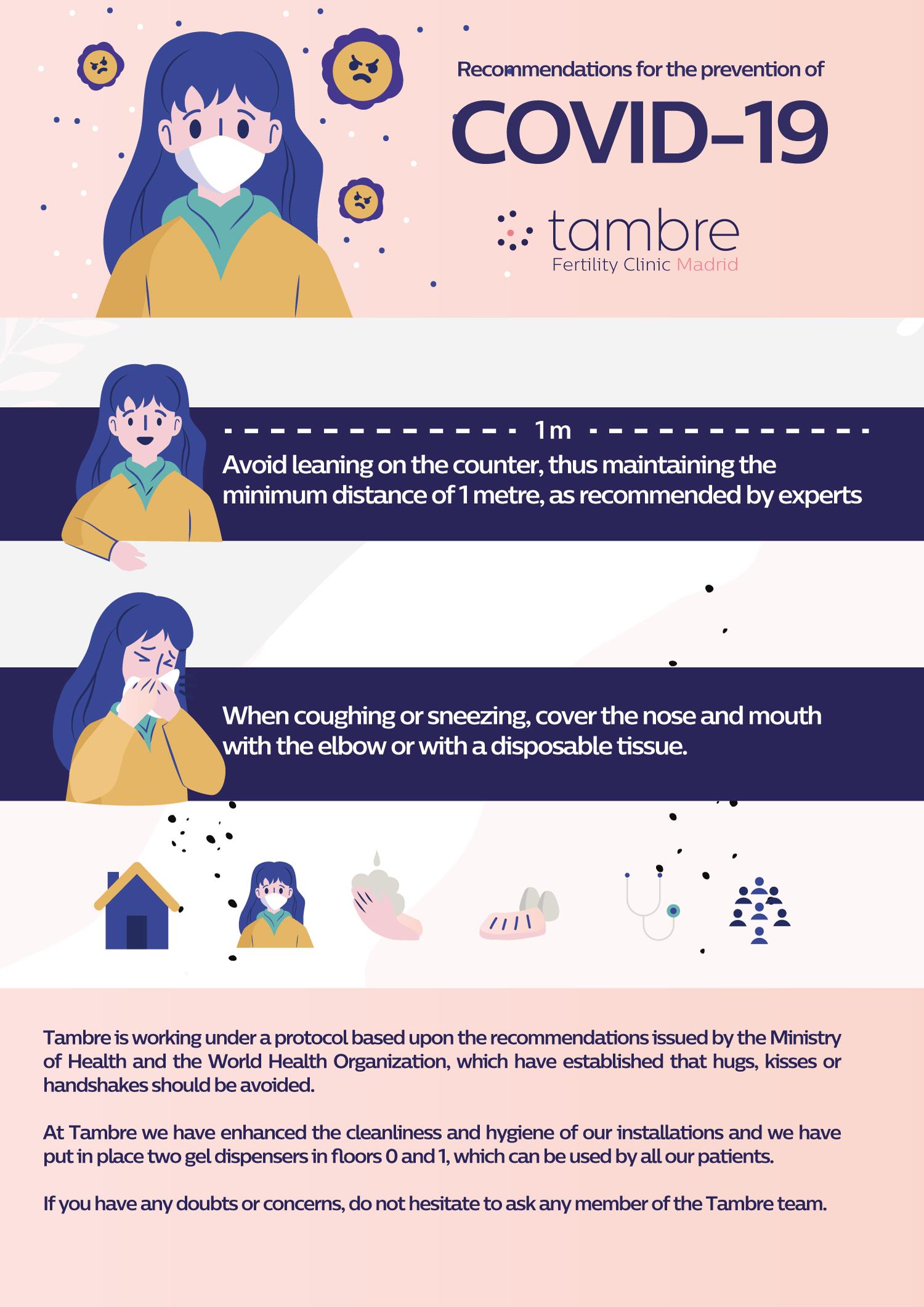 Coronavirus recommendations Tambre